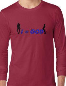 I=God, Blue Tee Long Sleeve T-Shirt