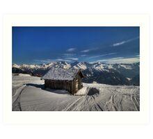 Alpine Hut with a view Art Print