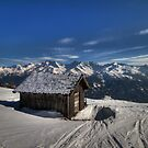 Alpine Hut with a view by Stefan Trenker