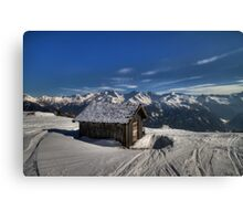Alpine Hut with a view Canvas Print