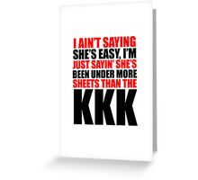 KKK, ku klux klan - T Shirts, Stickers and Other Gifts Greeting Card