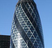 The famous Gherkin in London by Sue Leonard
