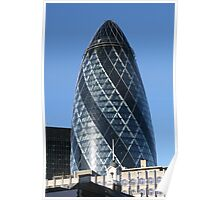 The famous Gherkin in London Poster