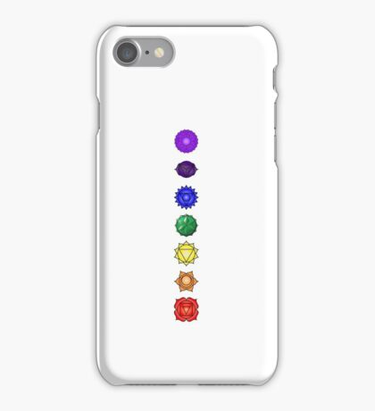 Seven vertical chakras iPhone Case/Skin