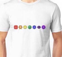 Seven horizontal chakras Unisex T-Shirt