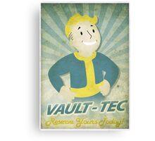Vault Boy Vintage Poster Canvas Print
