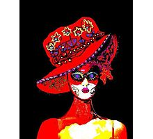 Carnival lady Photographic Print