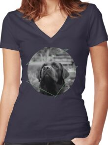 The Sad Dog Women's Fitted V-Neck T-Shirt