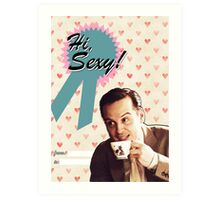 Moriarty Valentine's Day Card Art Print