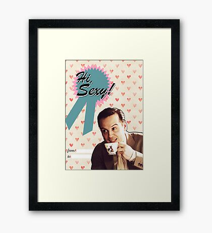 Moriarty Valentine's Day Card Framed Print