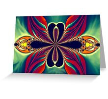 Flame Blossom Greeting Card