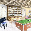 Interior of house, France by ian osborne