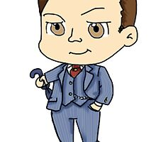 Mycroft Chibi by Zefkiel