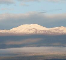Morning Snow on Mauna Kea by ronholiday