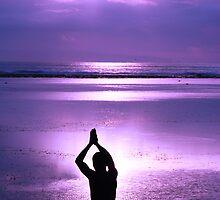 Greeting a purple dawn by Michael Brewer