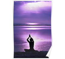 Greeting a purple dawn Poster