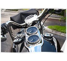 Motorcycle View Poster