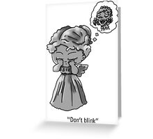 Weeping Angel Chibi Greeting Card