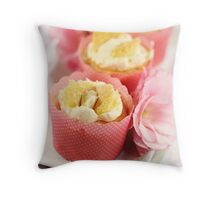 Butterfly Cream Cakes Throw Pillow