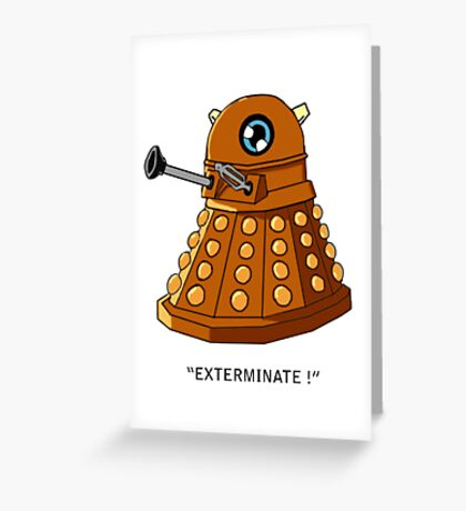 Dalek Chibi Greeting Card