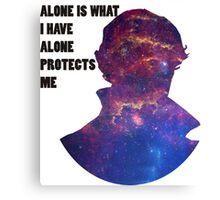 Alone Protects Me Canvas Print