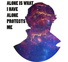 Alone Protects Me Photographic Print