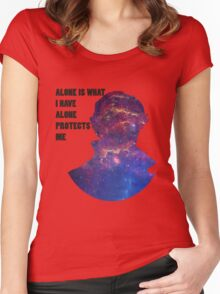 Alone Protects Me Women's Fitted Scoop T-Shirt