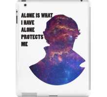 Alone Protects Me iPad Case/Skin