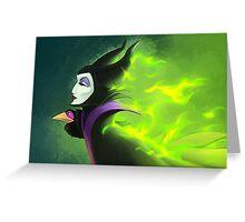 Maleficent - Beautifuly Burning Greeting Card