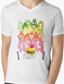 Free cupcakes! Mens V-Neck T-Shirt