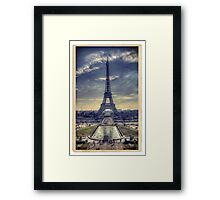 Eiffel Tower Vintage Framed Print
