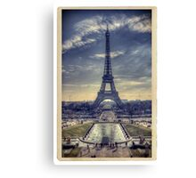Eiffel Tower Vintage Canvas Print