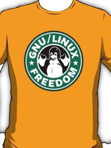 GNU Linux freedom - starbucks parody T-Shirt