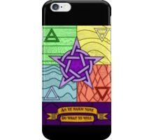 Stained glass Pentagram and Elements iPhone Case/Skin