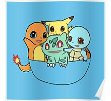 Chibi Pokemon on Pocket Poster