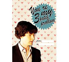 Sherlock Themed Valentine's Day Cards - 3 Patch Problem Photographic Print