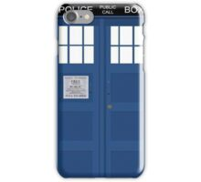 Tardis Greeting Card iPhone Case/Skin