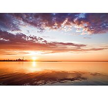 Pink and Gold Morning Zen - Toronto Skyline Impressions Photographic Print