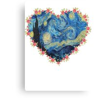 Starry Night inside the Heart Canvas Print