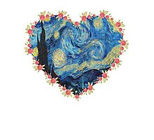 Starry Night inside the Heart Photographic Print