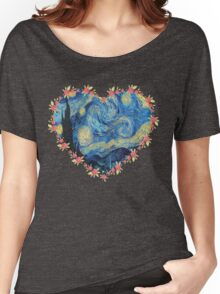 Starry Night inside the Heart Women's Relaxed Fit T-Shirt