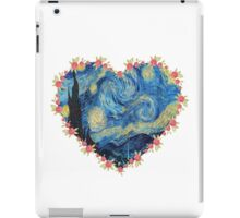Starry Night inside the Heart iPad Case/Skin
