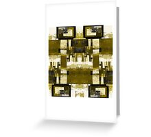 Forest Squared - Gold temple Greeting Card