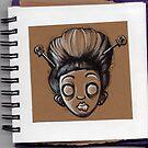 Sketchy Doodle Geisha by Laura McDonald