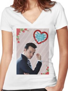 I Will Burn The Heart Out Of You :*) Women's Fitted V-Neck T-Shirt