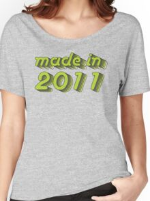 Made in 2011 (Green&Grey) Women's Relaxed Fit T-Shirt