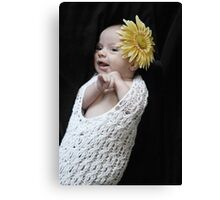 Flower Baby Canvas Print