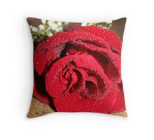 Laying Rose Throw Pillow
