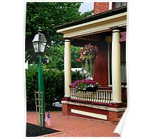 Porch with Hanging Basket Poster
