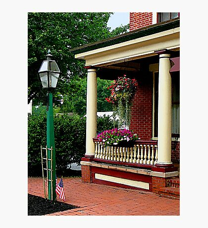 Porch with Hanging Basket Photographic Print